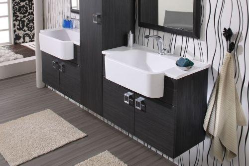 mobile bagno florens 703070 doppio lavabo in 4 colori